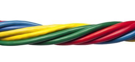 câbles réseau Ethernet torsadés colorés photo