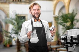 portrait de barista photo