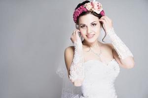 portrait de mariée photo