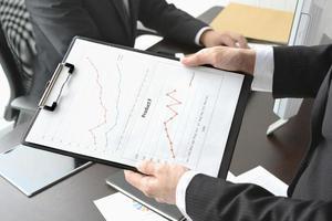 concepts d'affaires, scène au bureau photo
