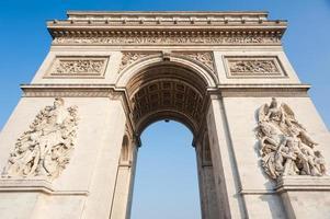 paris france arc de triomphe photo