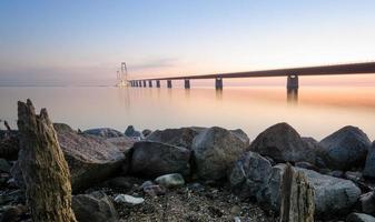 pont sur storebaelt au danemark photo