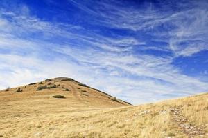 belle prairie dans les montagnes photo