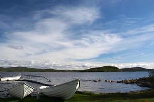 lac inari, laponie, finlande photo