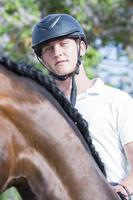 portrait de cavalier masculin photo