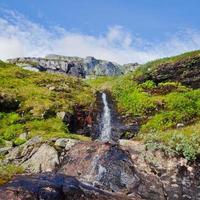 Beau paysage d'été norvégien paysage de montagne près de Trolltunga, Norvège