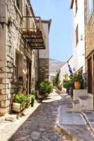 ruelle de l'île grecque photo