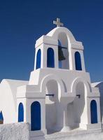 Architecture du village d'Oia - île de Santorin photo
