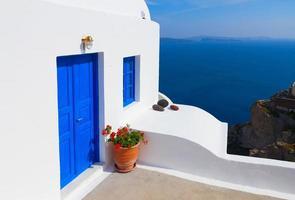 beaux détails de l'île de Santorin, Grèce photo