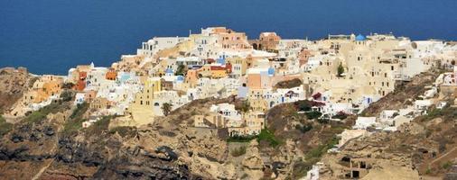 oia village santorin photo