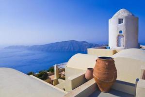 vue de santorin - grèce photo