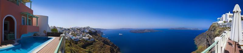 panorama de Santorin - Grèce photo