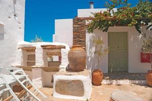 Maison grecque traditionnelle sur l'île de Sifnos, Grèce