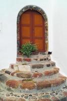 architecture traditionnelle du village d'Oia sur l'île de Santorin