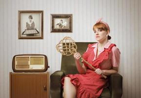 portrait de femme au foyer photo