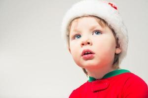 portrait de garçon de Noël photo