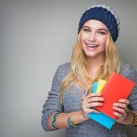 portrait de jeune fille étudiante photo
