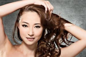 visage de beauté asiatique