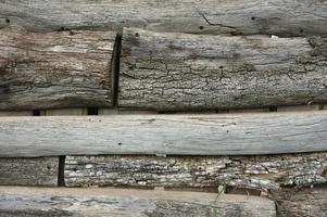 clôture en bois patiné