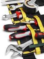 gros plan de la ceinture porte-outils photo