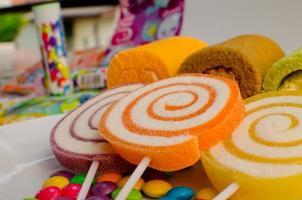 gros plan de bonbons photo