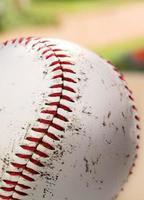 gros plan de baseball photo