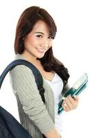 portrait d'étudiant heureux photo