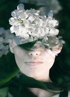 portrait double exposition photo