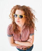 portrait de jeune fille à la mode