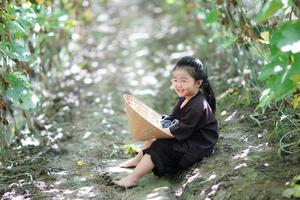 portrait d'enfant fermier photo