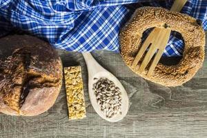 graines, cuillère bois, propagation, bois, fond photo