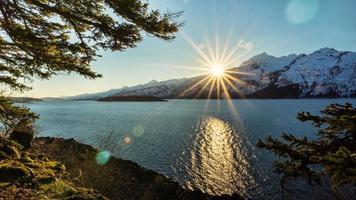 sunburst océan photo