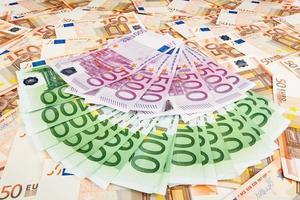 papier monnaie euro. fond de billets de banque photo