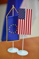 drapeaux usa et ue photo
