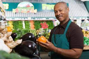 marchand de légumes photo