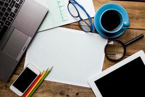 concept de plan d'affaires photo