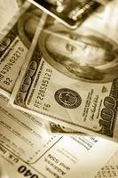carte de crédit et dollars photo