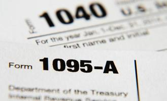 formulaire irs 1095-a (loi sur les soins de santé abordables) photo