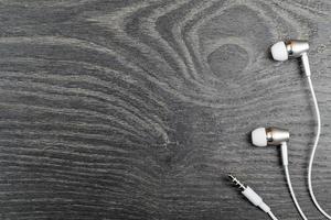 écouteurs blanc sur photo