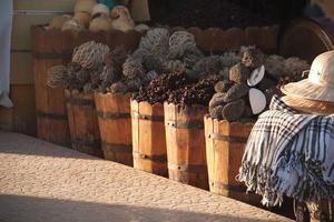 herbes locales au marché local à dahab, mer rouge photo
