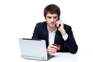 homme d'affaires, achats en ligne photo