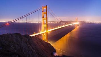Pont du Golden Gate au crépuscule photo
