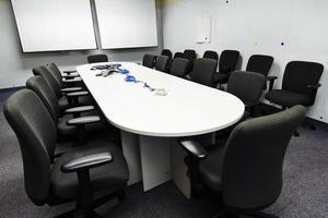 préparation de la salle de conférence photo