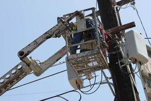 réparateur d'entrepreneur en électricité photo
