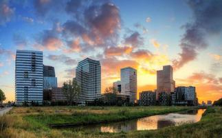 bureaux d'Amsterdam sunrise