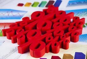 concept de finance, pour cent, ton coloré naturel photo