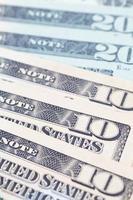 les billets en dollars pour le concept commercial et financier photo