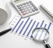 affaires graphique graphique bourse marché bureau bureau finance photo