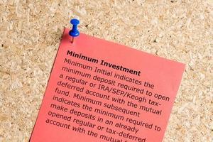 investissement minimum photo