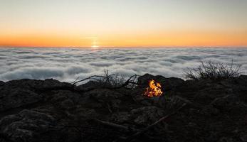 le feu du lever du soleil